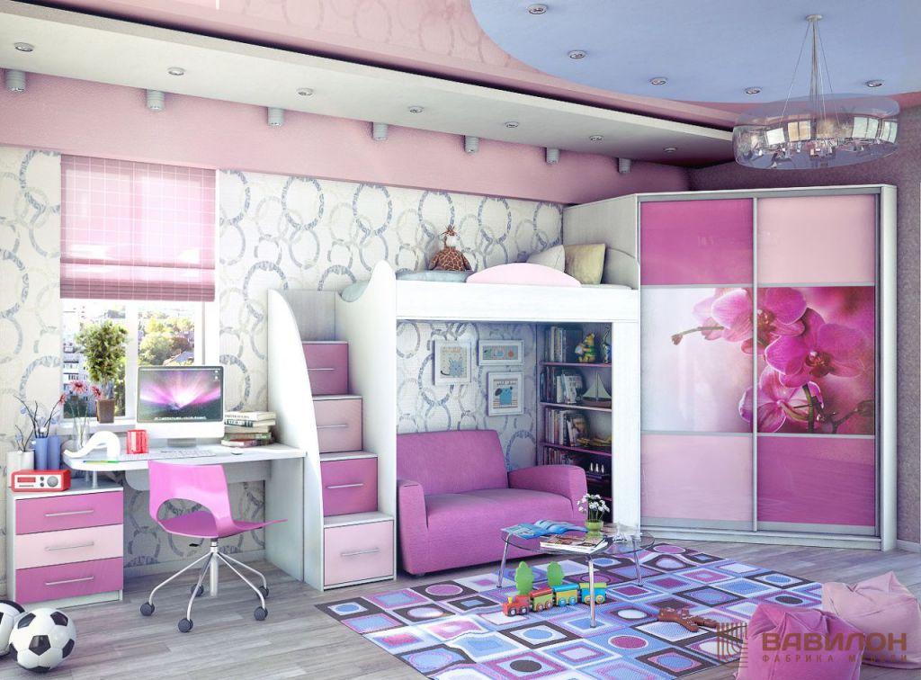 """Детская мебель для девочки в Санкт-Петербруге на заказ   ФМ """"Вавилон"""""""